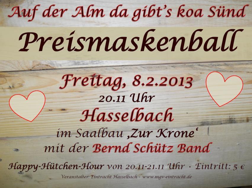 Preismaskenball :-)