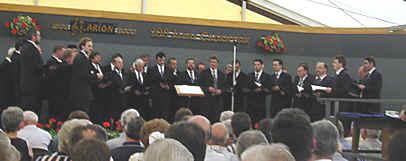 ... der Chor während eines Wettbewerbes