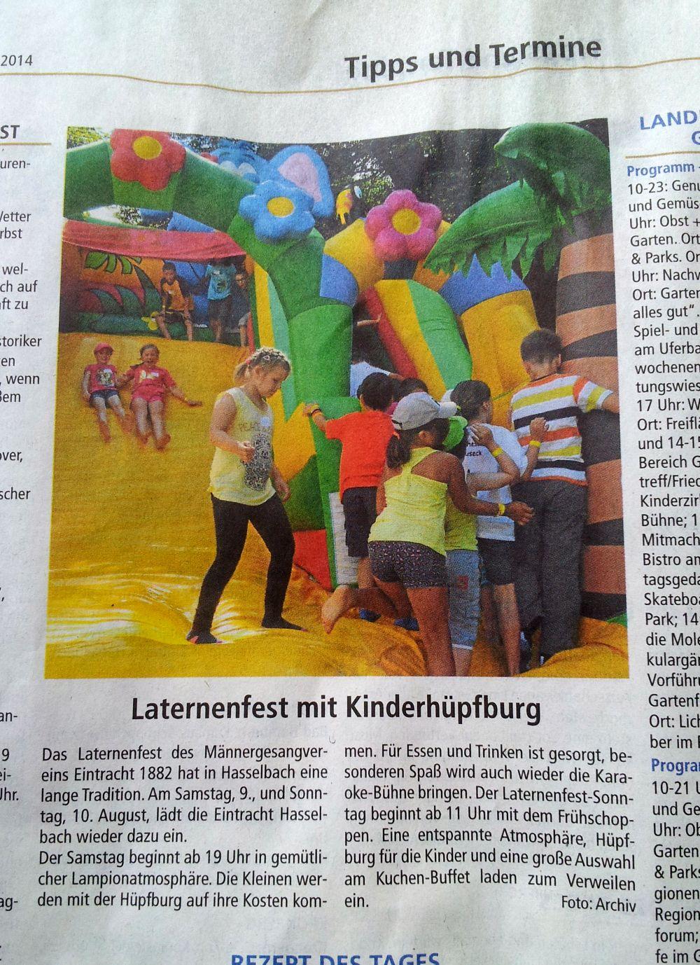 Usinger Anzeiger vom 09.08.2014