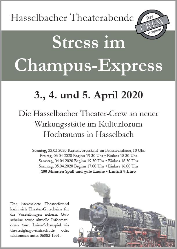 Stress im Champus-Express