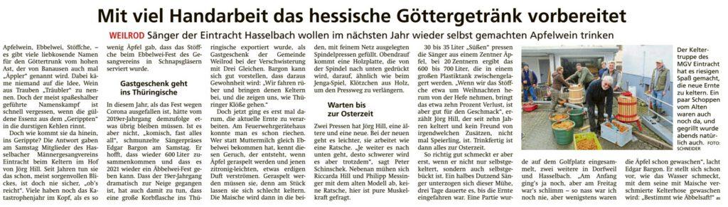 Taunus-Zeitung vom 13.10.2020 - www.tz-usingen.de